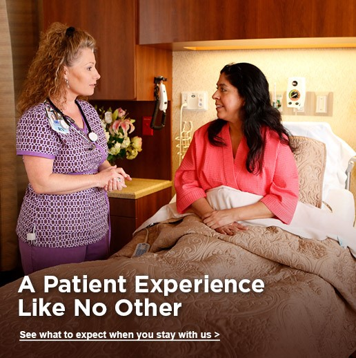 A patient experience like no other. See what to expect when you stay with us.