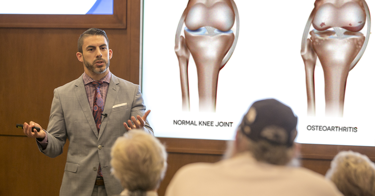 Joint Replacement Surgery Breakfast Seminars With Dr. Donald Hohman